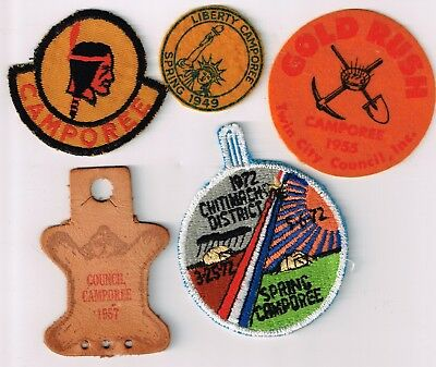 BSA Five Old Camporee Patches Boy Scouts