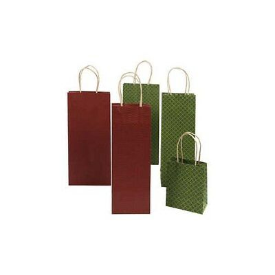 Recycle bags with print, H: 15,8+36 cm,  120 g, green, red, 50pcs [HOB-23393]