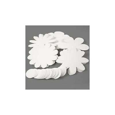Flowers, D: 20 cm,  400 g, white, 100pcs [HOB-23313]