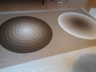VERNER PANTON MIRA-X cotton fabric curtain grosse Kreise big circle XL space age