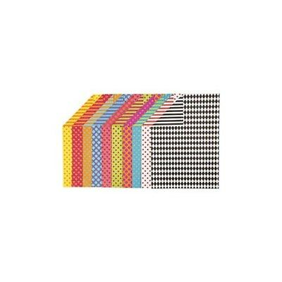 Patterned Card, A4 210x297 mm,  250 g, asstd colours, 200mixed sheets [HOB-22985