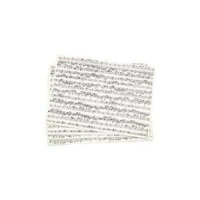 Kraft Paper with print, A4 210x297 mm,  100 g, music notes, 10sheets [HOB-219560