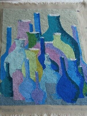 Ehrman completed tapestry Blue Jars Firescreen By Kaffe Fassett 1984.
