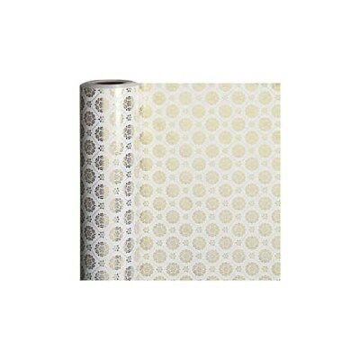 Wrapping Paper, W: 50 cm,  80 g, white, gold, tiles, 100m [HOB-19199]