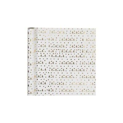 Wrapping paper, W: 57 cm,  80 g, white, gold, christmas tree with deer, 75m [HOB