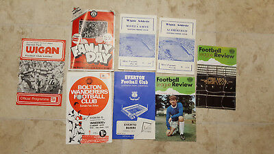 job lot 7 footbal programs reviews 1 rugby 60, 70, 80's Cup and domestic