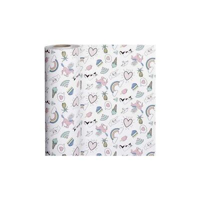 Wrapping Paper, W: 50 cm,  80 g, unicorn, 150m [HOB-19031]