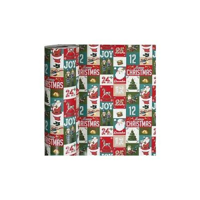 Wrapping Paper, W: 57 cm,  80 g, english christmas, 150m [HOB-19018]