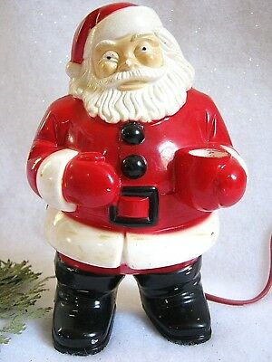Vintage 1950s Royal Electric Santa Claus Christmas Wall Decoration Hard Plastic