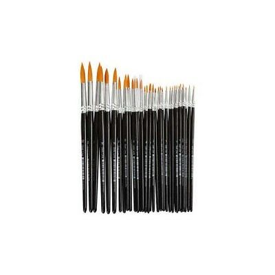 Gold Line Brushes, size 0+1+2+4+8+12+18+22 , W: 1,5-8 mm, round, 36mixed [HOB-10