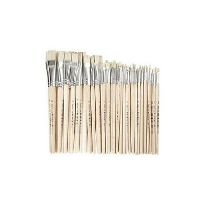 Nature Line Brushes, size 00-20 , W: 3-20 mm, short handles, 68mixed [HOB-10649]