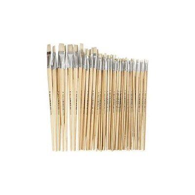 Nature Line Brushes, size 1-20 , W: 5-19 mm, long handles, 64mixed [HOB-10549]