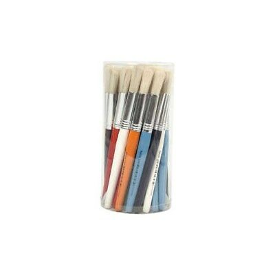 Kids Paint Brushes, W: 15 mm, round, 30pcs [HOB-10350]
