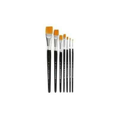 Gold Line Brushes, size 0-20 , W: 2-24 mm, flat, 7mixed [HOB-10247]