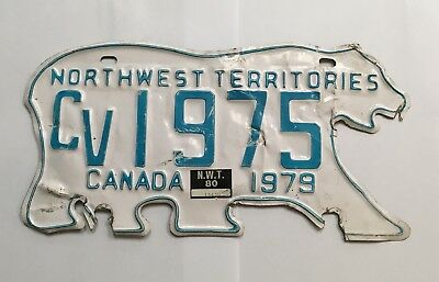 Vintage 1979 Northwest Territories Canada License Plate