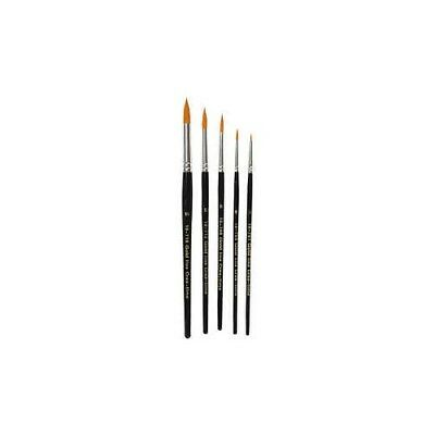 Gold Line Brush, size 1-18 , W: 2-7 mm, round, 5mixed [HOB-100265]