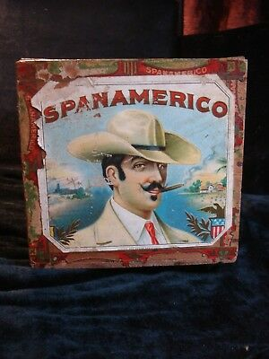 Antique SpanAmerico Wood Cigar Box Tobacco IRS Tax Stamps Label Pennsylvania PA