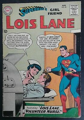 Superman's Girlfriend Lois Lane #43 DC Comics Silver Age! GD/VG 3.0! 20% OFF!