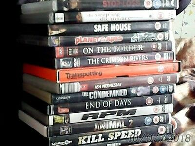 DVD bundle 14 films,some big names.,includes trainspotting,planet of the apes...