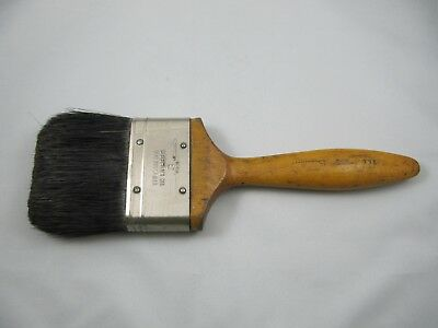 """ANTIQUE VINTAGE BRISTLE PAINT BRUSH 3"""" LATE 1940's-EARLY 1950's-NICE CONDITION!"""