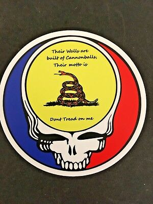 Grateful Dead, Uncle Johns Band, Don't Tread on Me, 4 inch Sticker Free S&H