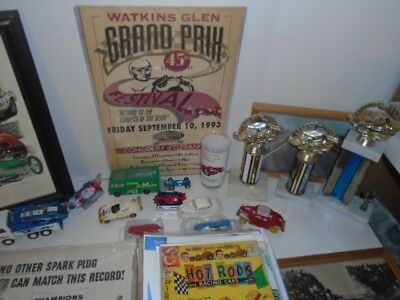 Vintage Auto Racing Collectibles Toys Programs Posters Autographs lot of