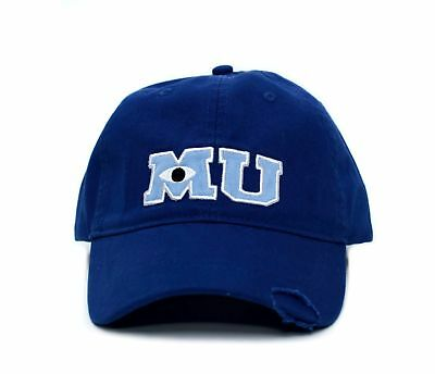 New Monsters MU University Hat Applique Royal Blue Baseball Cap Adult Curved Hat