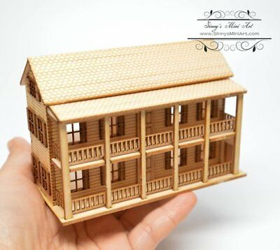 1:144 Laser Cut Charleston Single Dollhouse Kit / DIY Dollhouse Miniatures Dolls
