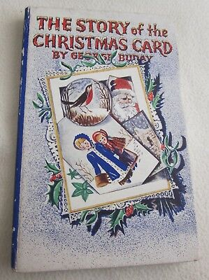 Vintage Hardcover Book The Story of the Christmas Card George Buday  1930's