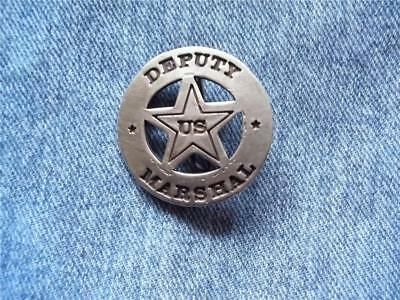 Deputy Us Marshal Badge Circle Cut-Out Star Old West Western Law Lawman Pin