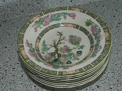 Vintage Set Of 7 Berry Fruit Bowls Myott Staffordshire England Indian Tree