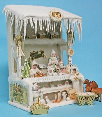 """Jean Nordquist's Replica 14""""H x 10""""W Christmas Market Stall Project & Wood Kit"""