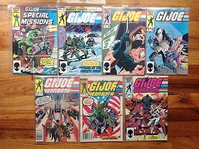 GI JOE COMIC BOOK LOT Special Missions Yearbooks Vintage Marvel 1982 85 VF
