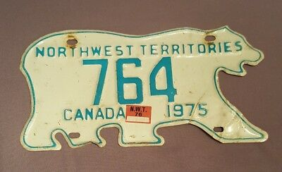 Polar Bear License Plate Rare Low Number 1975 Nwt Canada Sticker Car Truck