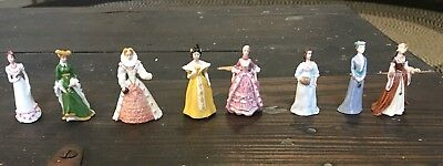 Franklin Mint Ladies of Fashion LOT of 8 Figurines Porcelain Miniature