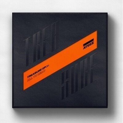ATEEZ-[Treasure EP.1:All To Zero]1st CD+Poster/On+Book+Sticker+Card+Tracking