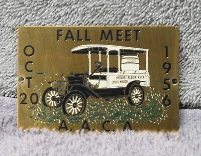 1956 Hershey Fall Meet dash plaque, AACA, Antique Automobile Club of America