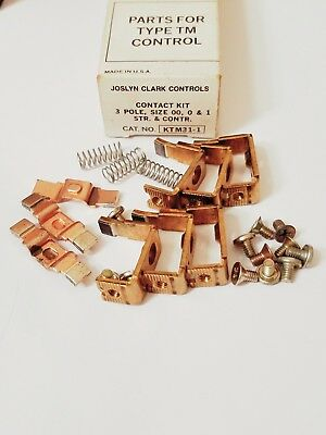 New, Joslyn Clark KTM31-1 Contact Kit, Type TM Control. 3 Pole. Sz 00, 0 & 1