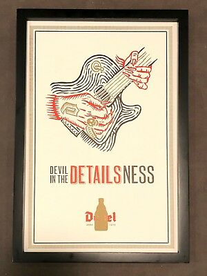 "Framed DUVEL framed print Devil in the Details Ness 12"" X 18"" BRAND NEW - RARE"