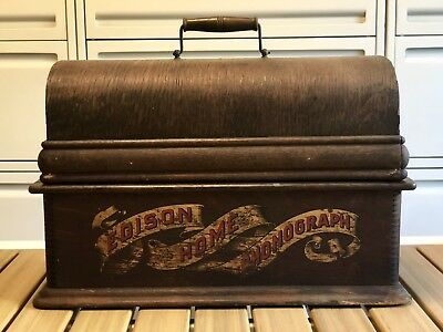 Edison Red Banner Home Phonograph Case with Lid. Project Original Model A