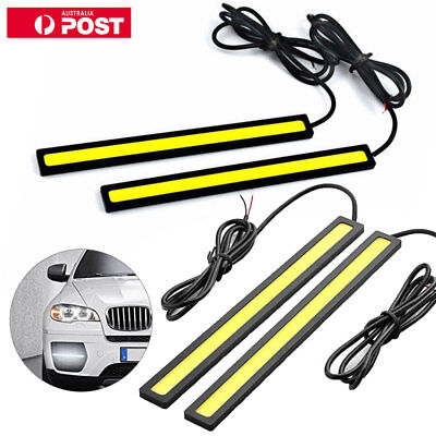 6X 12V LED Car Interior White Strip Lights Bar Lamp Car Van Caravan Boat Home