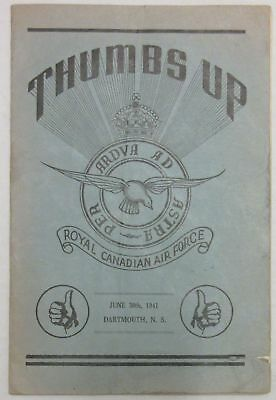Royal Canadian Air Force RCAF Thumbs Up June 30, 1941 Dartmouth, NS Booklet