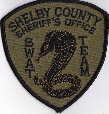 Shelby County Sheriff's Office SWAT TEAM green Tennessee TN  Police patch