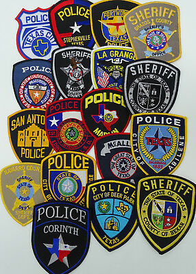 LOT of 18 pieces Texas TX Police Department Police patches E1