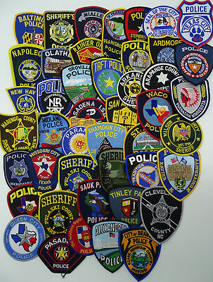 LOT of 45 pieces mixed USA/International Police Department Police patches B1