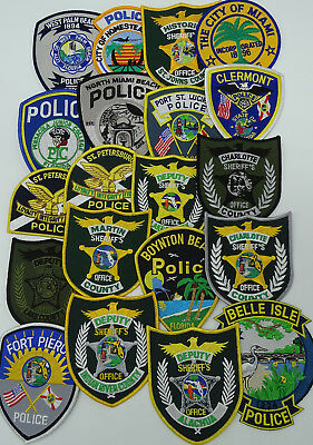 LOT of 20 pieces Florida FL Police Department Police patches C1