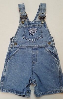 Vintage 1990's Baby Guess Stonewashed Denim Shorts Overalls 24 months