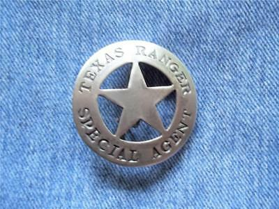 Texas Ranger Special Agent Badge Circle Cut-Out Star Western Law Lawman Pin