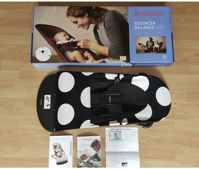 Baby Bjorn, Bouncer Balance Soft, Limited Edition, Polka Dot, Black & White