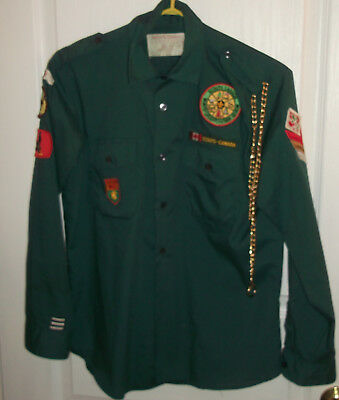 Saskatchewan Shirt With Many Canadian Scouts Patches, In Vg Condition (And)